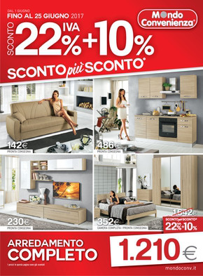 Catalogo mondo convenienza offerte e promozioni for Arredamento completo casa offerte
