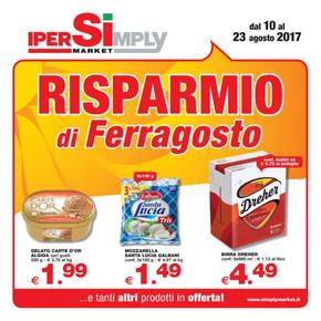 Volantino ipersimply offerte e promozioni for Volantino offerte despar messina