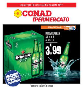 Volantino conad ipermercato offerte e promozioni for Volantino acqua e sapone l aquila