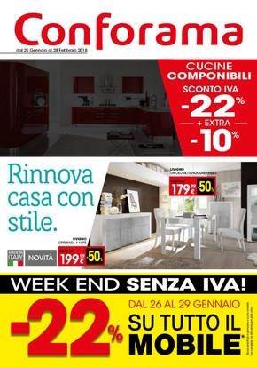 Volantino Conforama a Cassina Rizzardi: offerte e orari