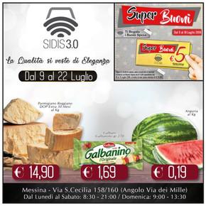 Volantino sidis a messina offerte e supermercati for Volantino offerte despar messina