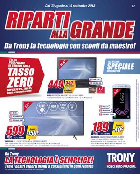 Volantino Trony a Monza: offerte e negozi