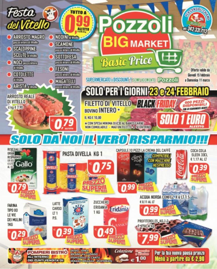 Volantino Pozzoli Market a Cesano Maderno